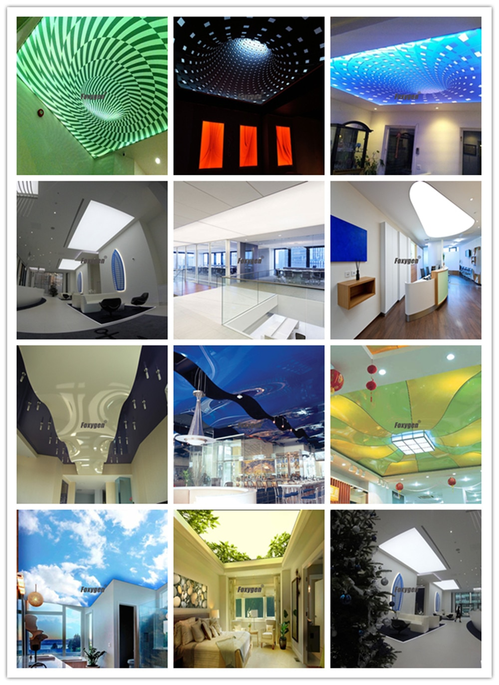 Foxygen uv and eco print pvc stretch fabric ceiling film blue 3d wave sky design for office hotel mall home price china export factory price (4)_副本